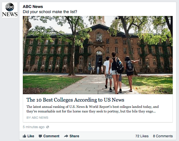 Facebook is displaying bigger thumbnail images