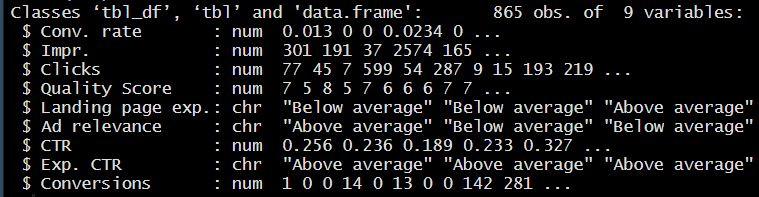 Data Summary