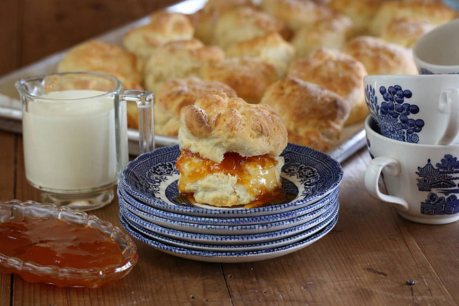 Maggie Beer Recipe Scone With Apricot Jam