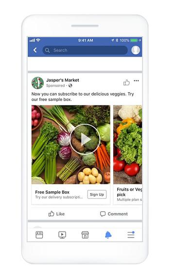 Jasper's Market Facebook Lead Gen Example
