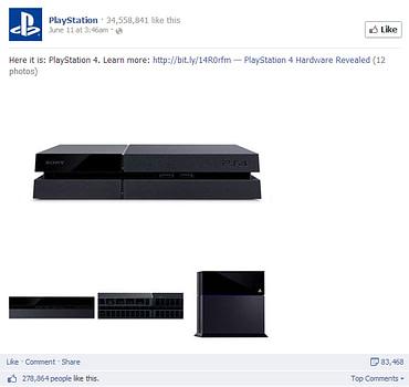 Playstation 4 Facebook short post