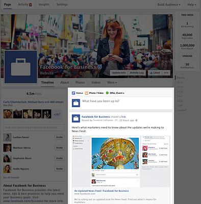 Facebook single column layout