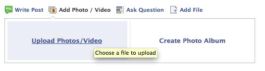 Facebook video uploader