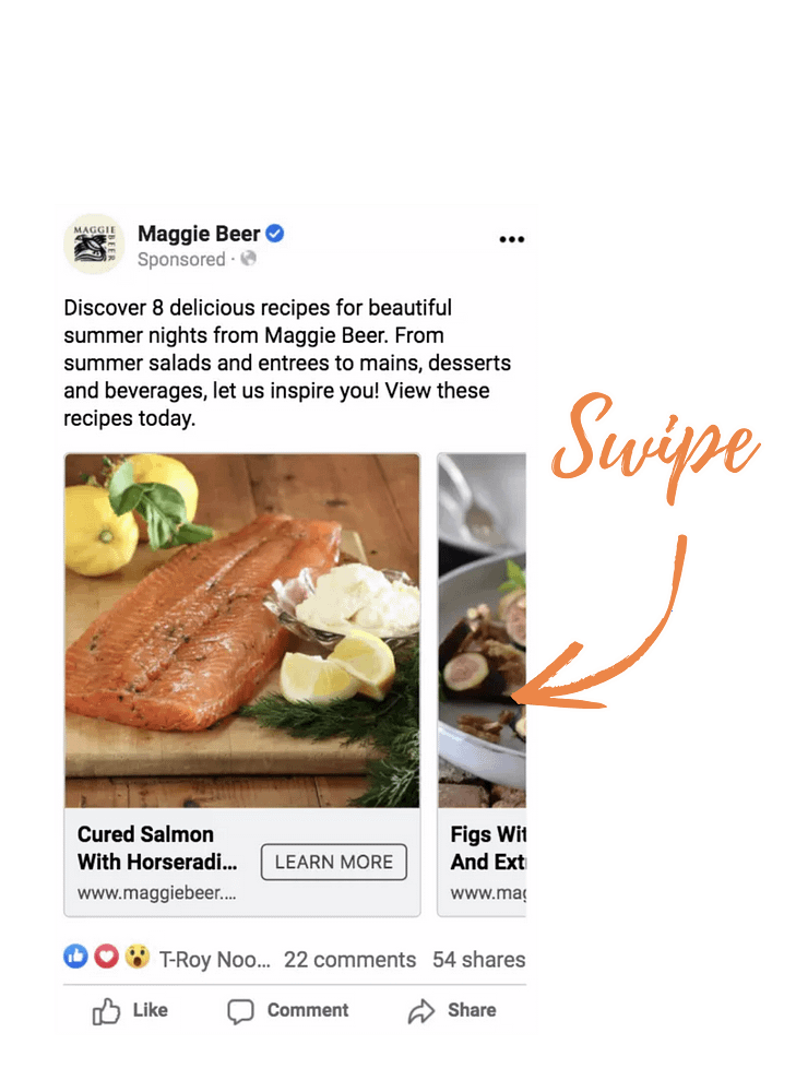 Maggie Beer Recipe Facebook Ad